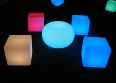 LED Round Illuminated Table