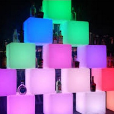 illuminated cubes